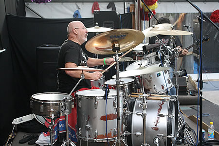 Mac on drums