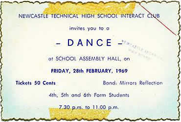 Newcastle Technical High School Boys Dance Ticket