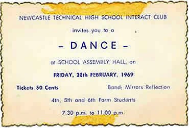 Newcastle Technical High School Girls Dance Ticket